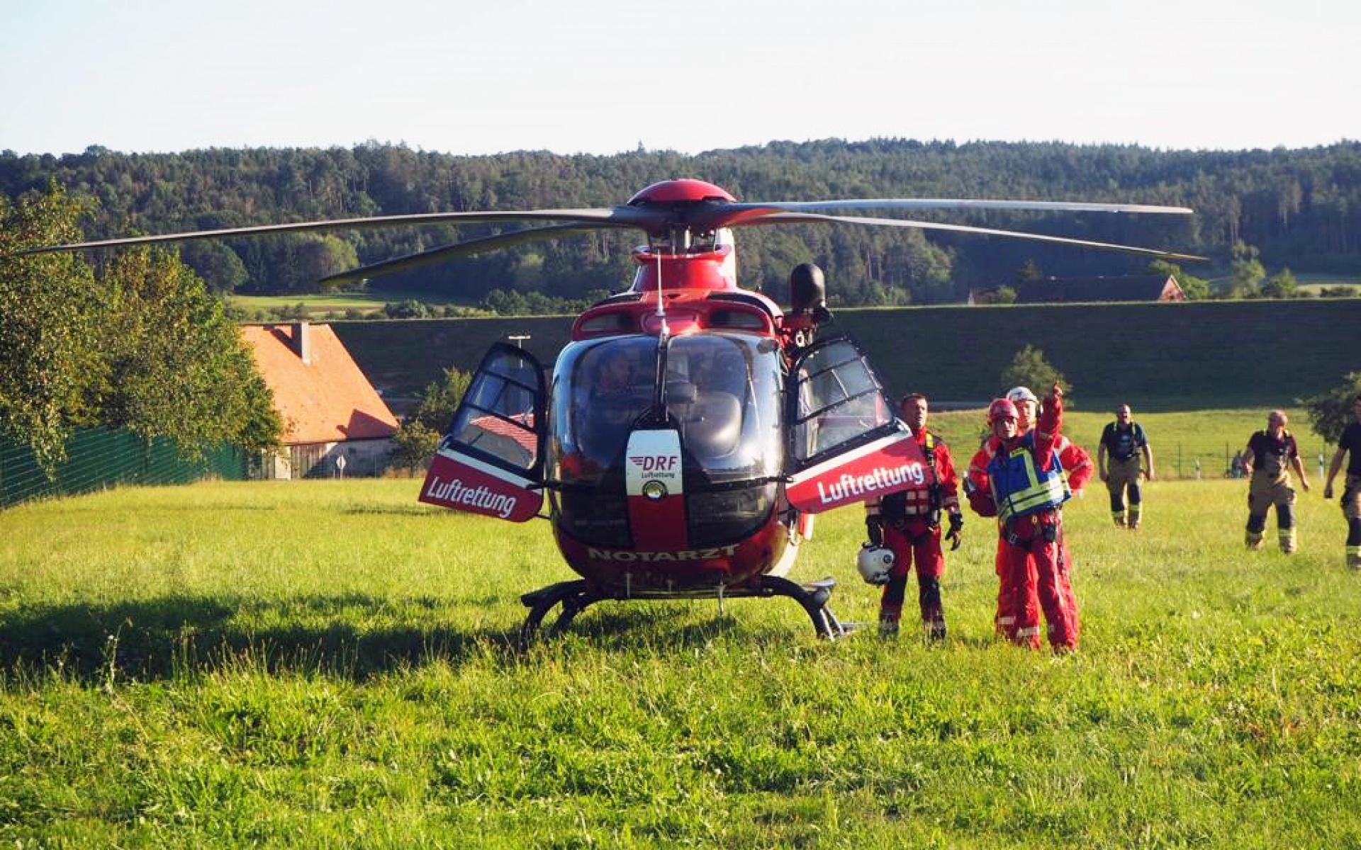 """Für die Crew von Christoph 27 war es eine """"Operation auf sehr hohem Niveau"""". Foto Sara Landsleitner"""