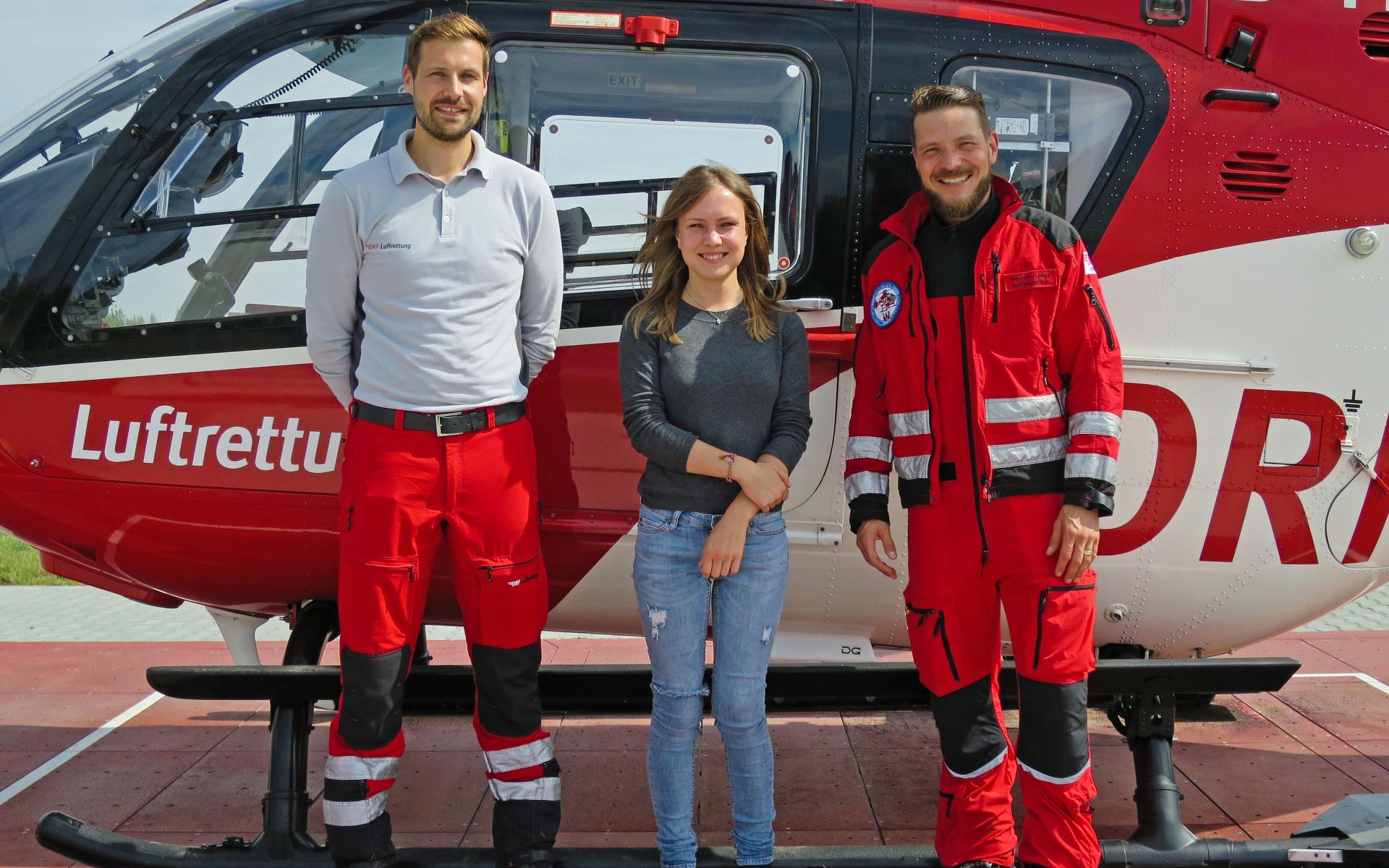Mit der DRF Luftrettung fühlt sich die junge Frau nach ihrem Unfall tief verbunden.