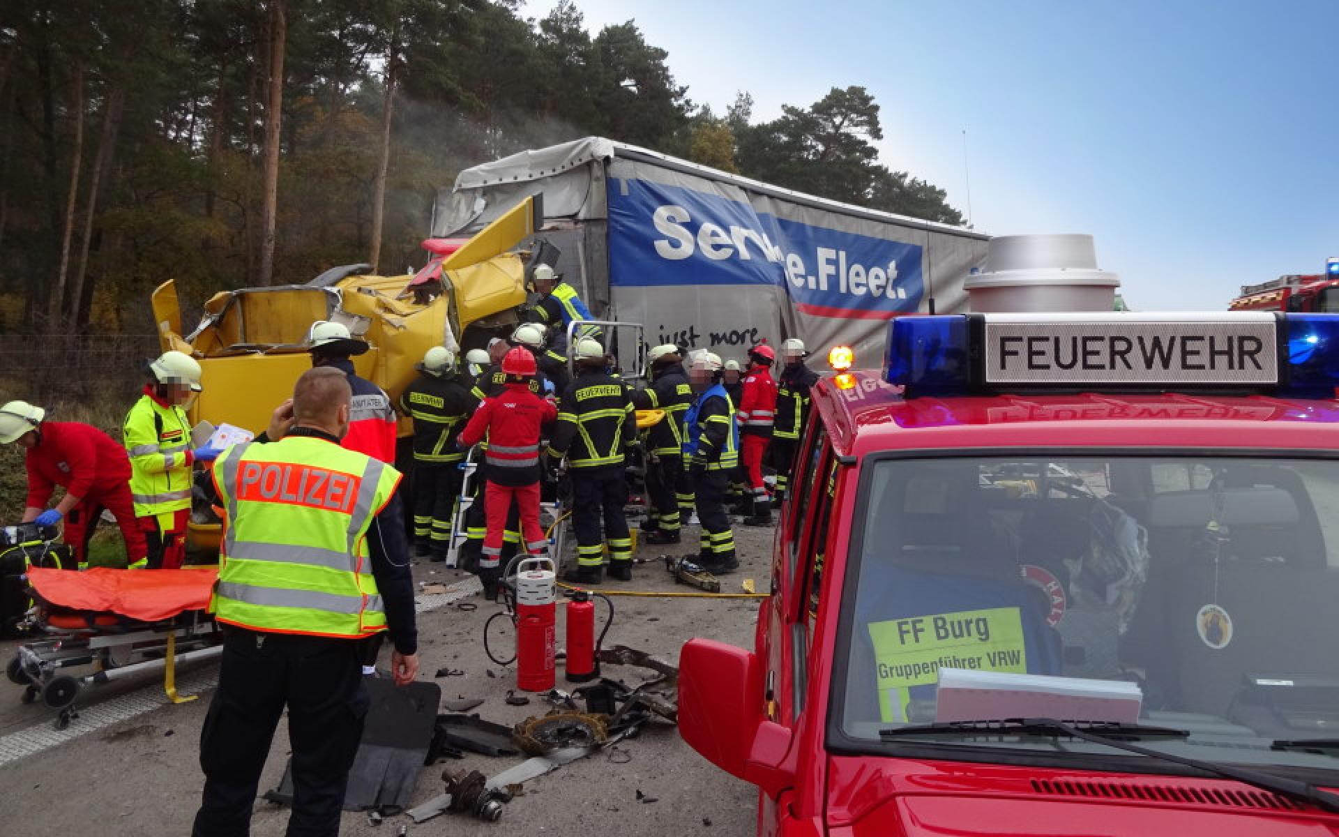 Aufgrund der Nähe zu den Autobahnen A2 und A14 zählen Verkehrsunfälle zum häufigen Einsatzspektrum.