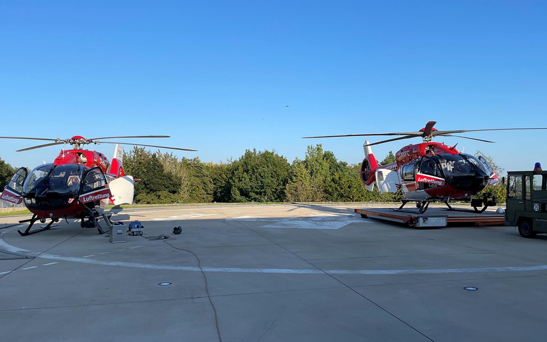 Der Flottenwechsel geht weiter: Seit dem Wochenende startet auch an der Station in Regensburg ein Hubschrauber des Typs H145 mit Fünfblattrotor. Er ist der vierte, den die DRF Luftrettung in Dienst gestellt hat. (Quelle: DRF Luftrettung)