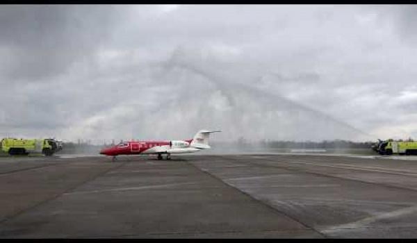 Embedded thumbnail for Frisch getauft und einsatzbereit: Unser neuer Learjet