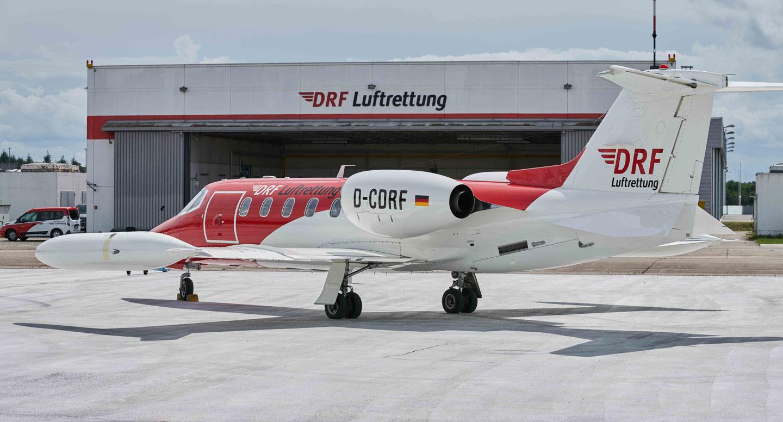 Learjet auf dem Landeplatz
