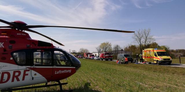 Schnelle Hilfe für einen schwer verletzten Motorradfahrer brachte kürzlich Christoph 49, der Bad Saarower Hubschrauber der DRF Luftrettung.