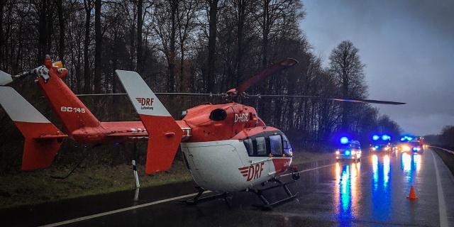Die Rendsburger Luftretter wurden kürzlich auf die A 215 alarmiert. Zwei Menschen waren bei einem Unfall verletzt worden.